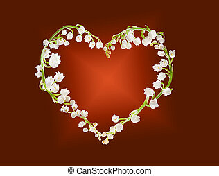 Heart of lillies - Heart shape made of lilly-of-the-valley...