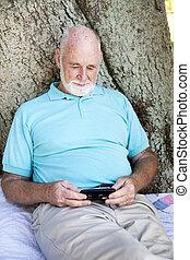Senior Man with Smart Phone