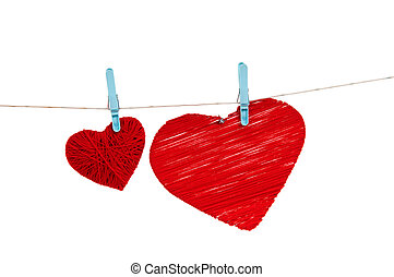 Hearts on a rope