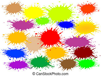 Vector illustration an abstract background with colour blots