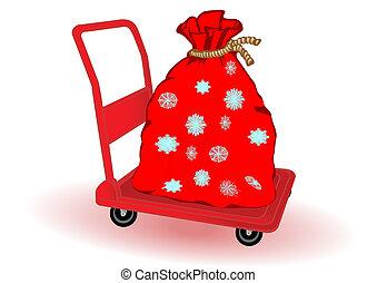 Vector illustration the Christmas bag