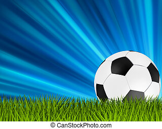 Football or soccer ball on grass. EPS 8 - Football or soccer...