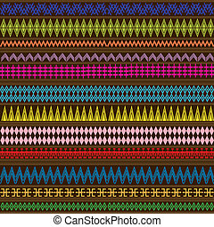 Multicolored texture with geometric ethnic ornaments