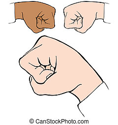 Fist Bump - An image of a fist bump handshake.