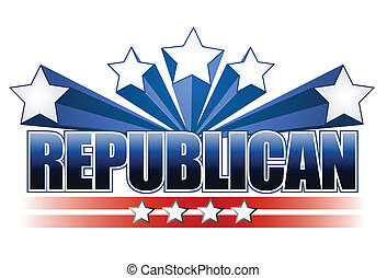 Republican sign isolated over white