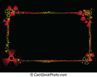 Radioactive border - Frame composed of radioactive particles...