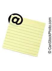 E-Mail - Note Pad with 'at' Symbol, e-mail concept