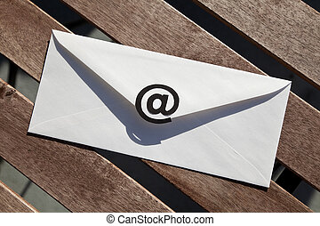 E-Mail - Envelope with @ Symbol, concept of E-Mail