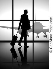 Business Trip - Stock illustration of a businessman carrying...