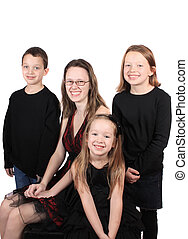 Siblings or babysitter - Siblings of different ages, three...