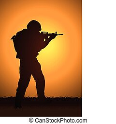 Soldier - Stock illustration of a soldier