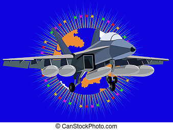 Fighter deck aircraft - Airforce. Fighter in the abstract...