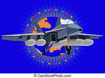 Fighter deck aircraft