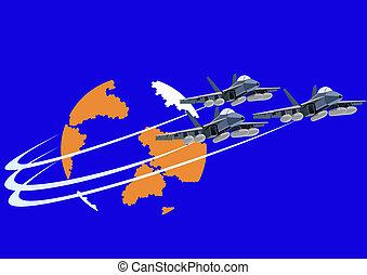 Fighter flight deck aircraft.