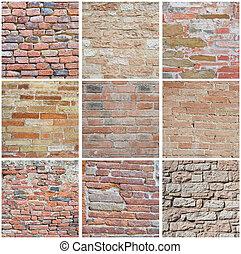 brickwall, collage