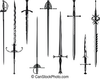 Silhouette collection of swords - Simplified copy of my...