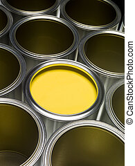 Yellow Paint can - Paint cans full frame with Yellow paint...