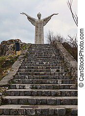 huge christ - picture of huge concrete christ statue in...