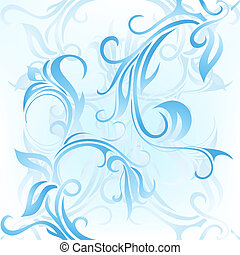 Window frost ornament - Abstract background with floral...