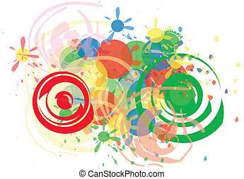 Party time - Colorful and abstract, ideal for party patterns