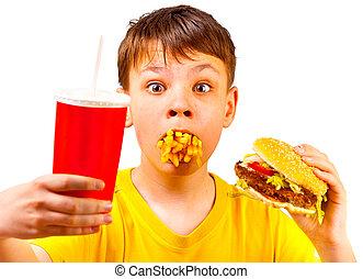 dziecko, mocny, jadło