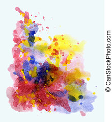 Abstract background, watercolor, beautiful hand painted on a...