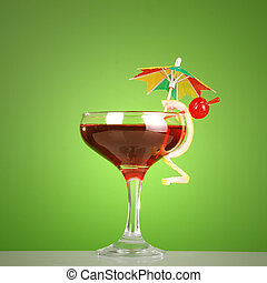 Cosmopolitan cocktail, red alcoholic drink