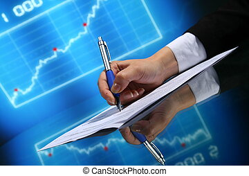 financial seminar professional business background