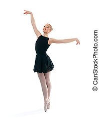 a young wonderful ballerina is dancing