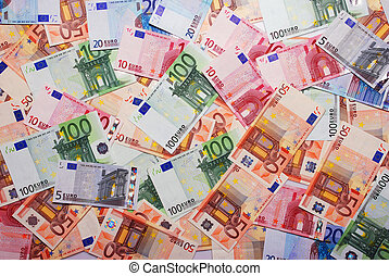 euro banknotes - Background made of euro banknotes