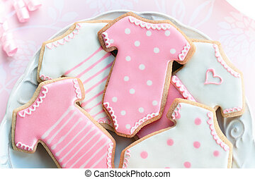 Babyshower cookies - Cookies decorated with a baby girl...