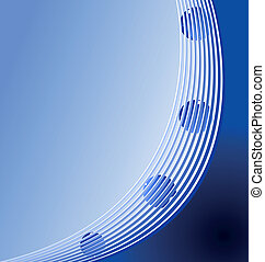 Realistic illustration of blue abstract stripped background...