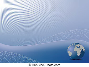 Illustration the abstract blue background for design...