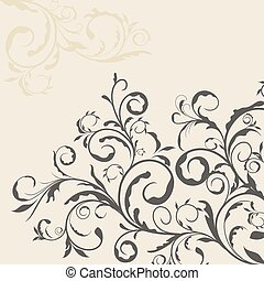 Illustration the floral decor element for design and border...