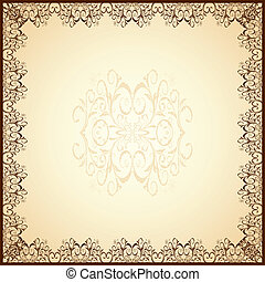 guipure frame - Illustration of cute guipure frame Vector