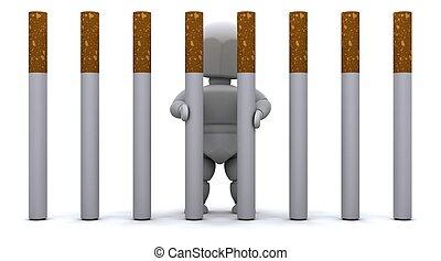 Man in Cigarette Prison