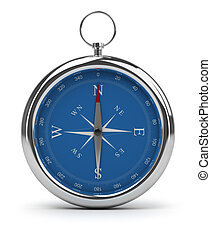 compass - Compass pointing to North 3d image Isolated white...