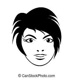 girl face. Close up