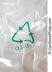 Recycle - Plastic recycled with a recycling logo