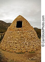 Charcoal Kiln - An old charcoal kiln still stands at an...
