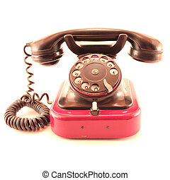 old phone isolated on white