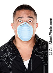Surgical Mask Safety - Worried Native American man with...
