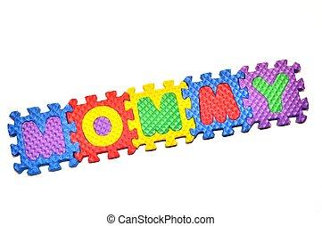 Mommy - letter blocks