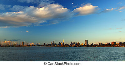 Melbourne City Victoria - A view of Melbourne City skyline...