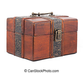 Treasure Chest Isolated on a white background