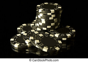 Stack of Casino Chips for Gambling