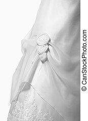 Wedding gown - A close-up of a beautiful white wedding gown