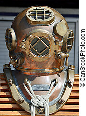 "U.S. Navy ""Hard Hat"" Diving Helmet - The U.S. Navy Mark V..."