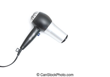 Hair dryer - A hair dryer isolated on white