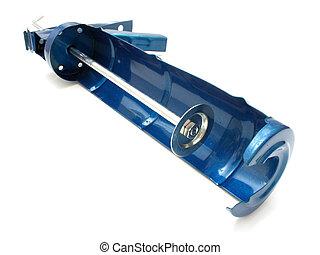 Building pistol for hermetic metal dark blue color on a...
